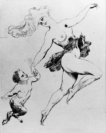 Norman Lindsay Facsimile Etching - Frolic