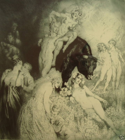 Norman Lindsay Facsimile Etching - Have Faith