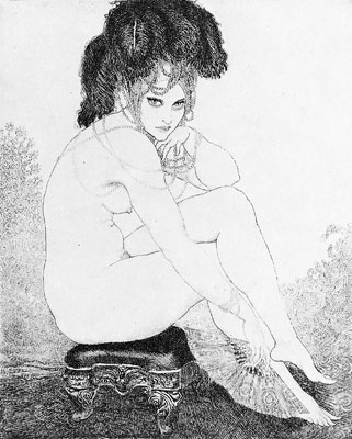 Norman Lindsay Facsimile Etching - Your Fate