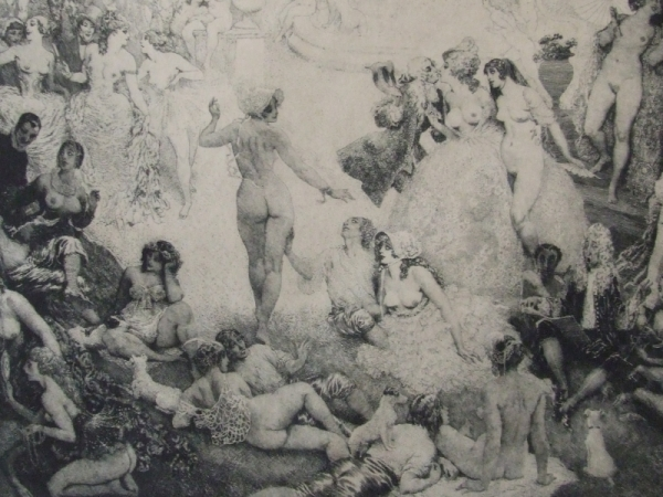 Norman Lindsay Original Etching - Micomicon