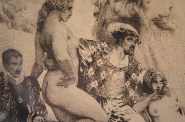 Norman Lindsay original etching - Song of the Faun
