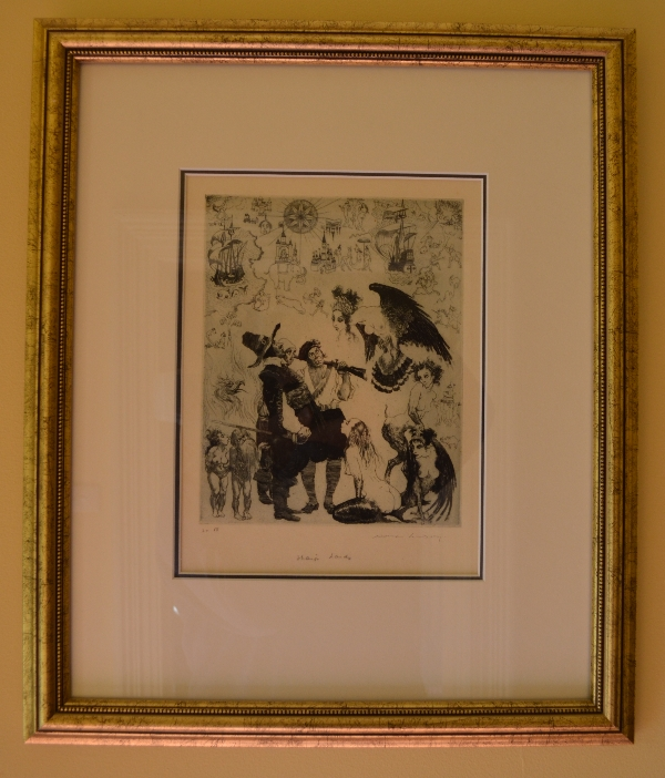 Norman Lindsay Original Etching - Strange Lands
