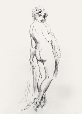 Norman Lindsay Facsimile Etching - No Yes