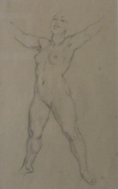 Norman Lindsay Pencil Drawing