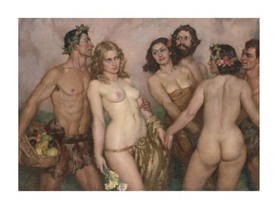 Norman Lindsay Oil Paintings - Springs Innocence